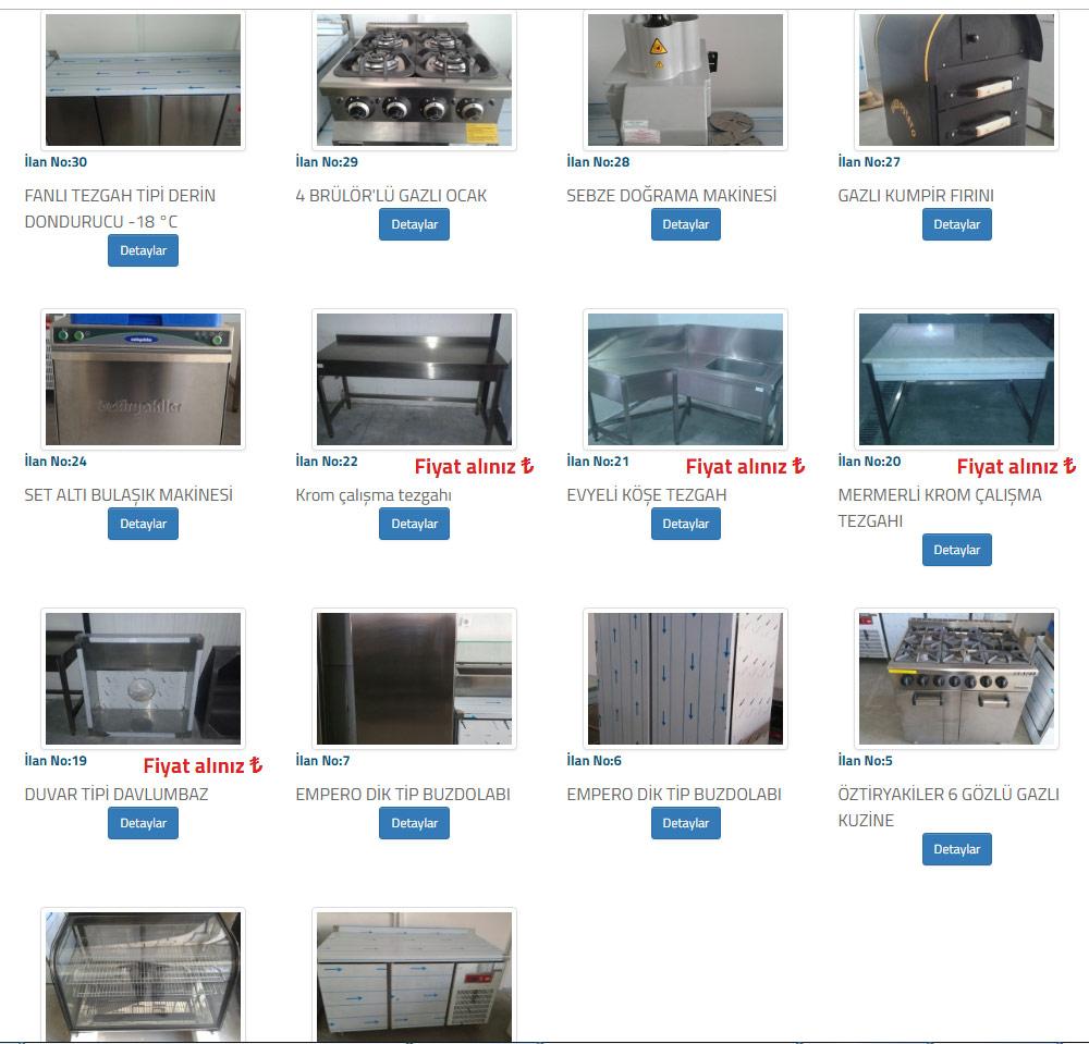 fca simav ikinci el endustriyel mutfak malzemeleri ikinci el lokanta malzemeleri ikinci el mutfak tezgahlari fiyatlari